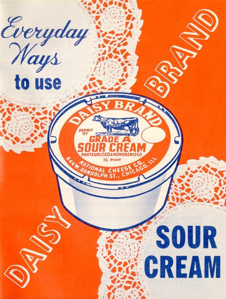Vintage Daisy Sour cream poster