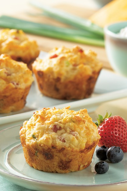 Cottage Cheese, Egg and Ham Muffins