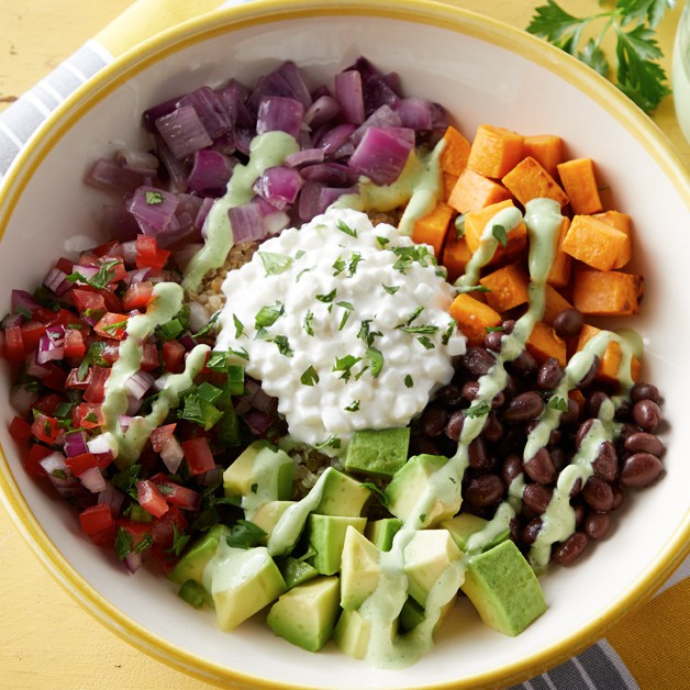 Sweet potato and black bean bowl recipe