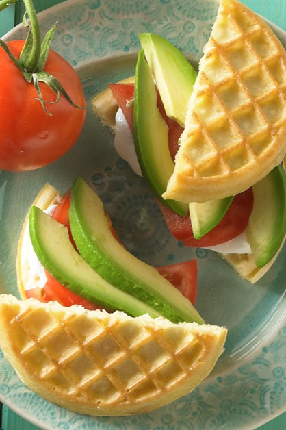 Avocado Tomato Waffle Grilled Cheese - Daisy Brand - Sour ...