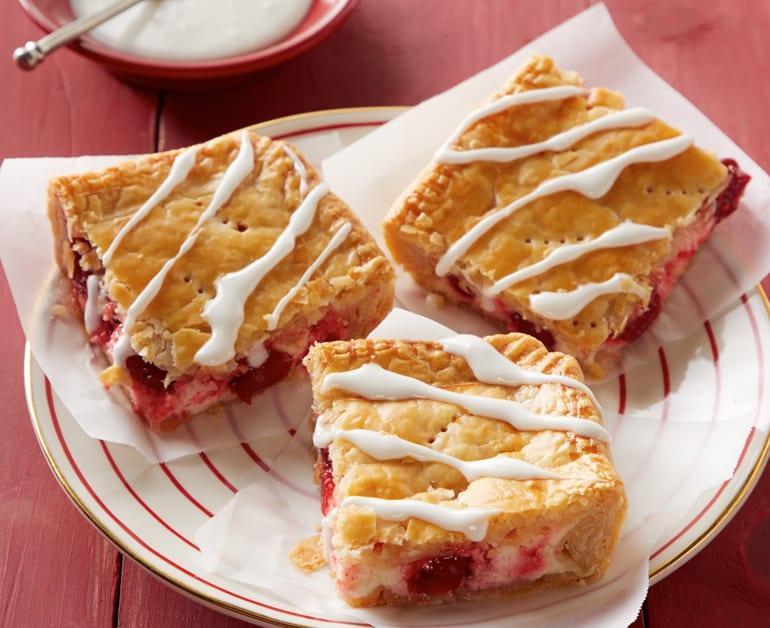 Cherry slab pie