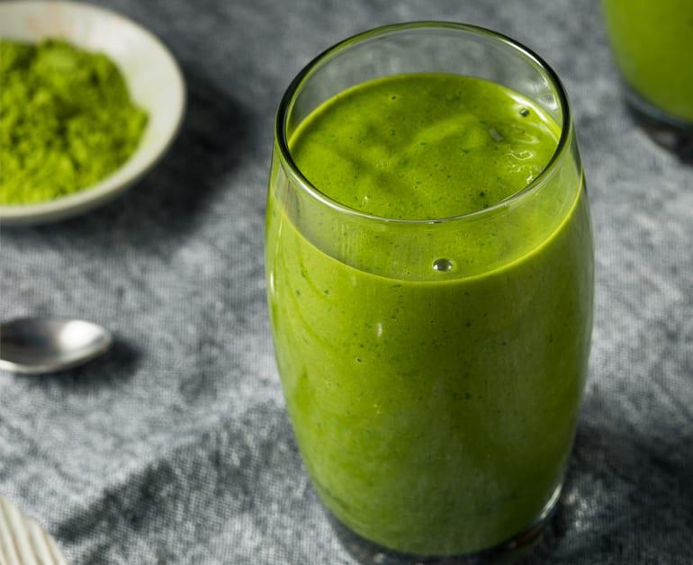 Green matcha smoothie