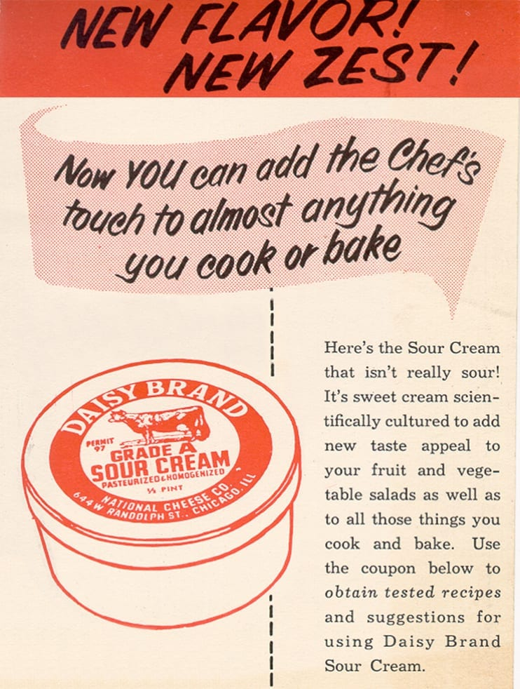 Daisy Brand Sour Cream Vintage Poster